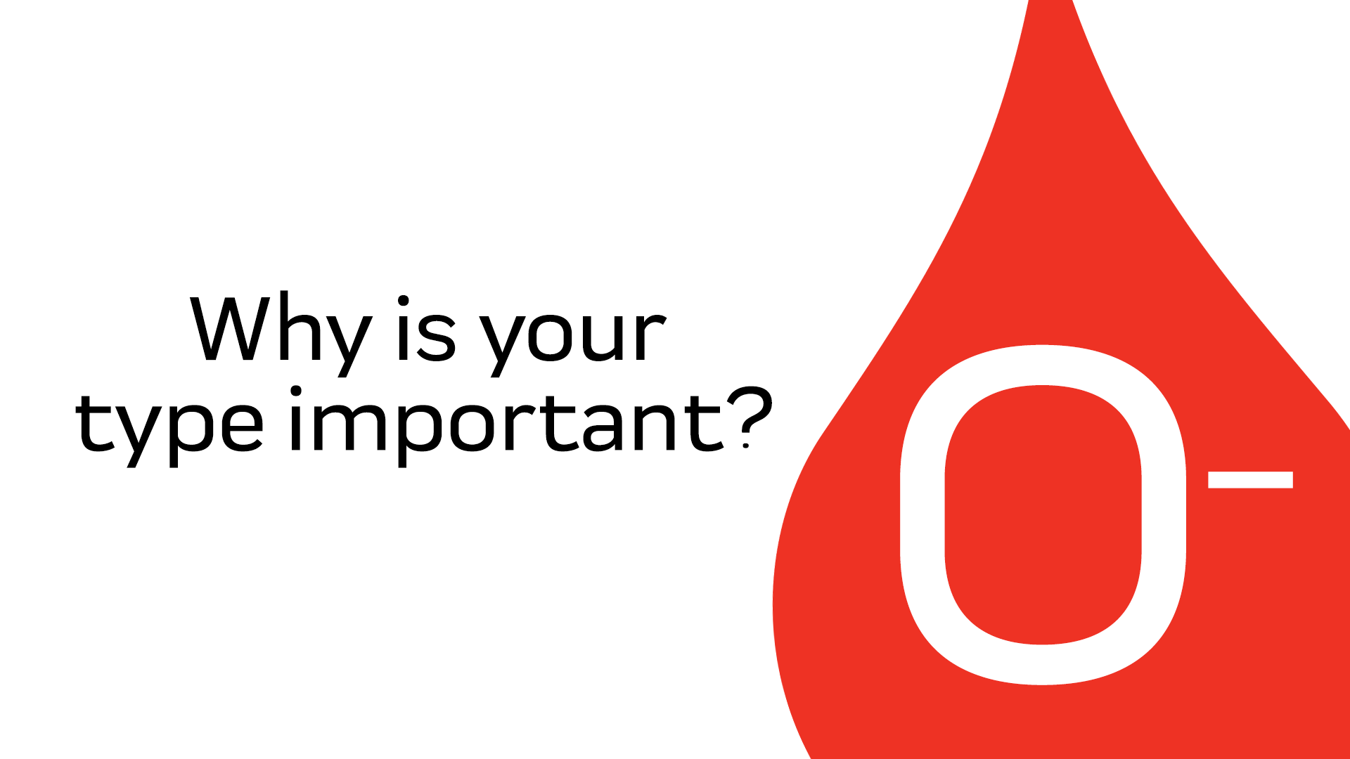 Your O- Blood Is Important