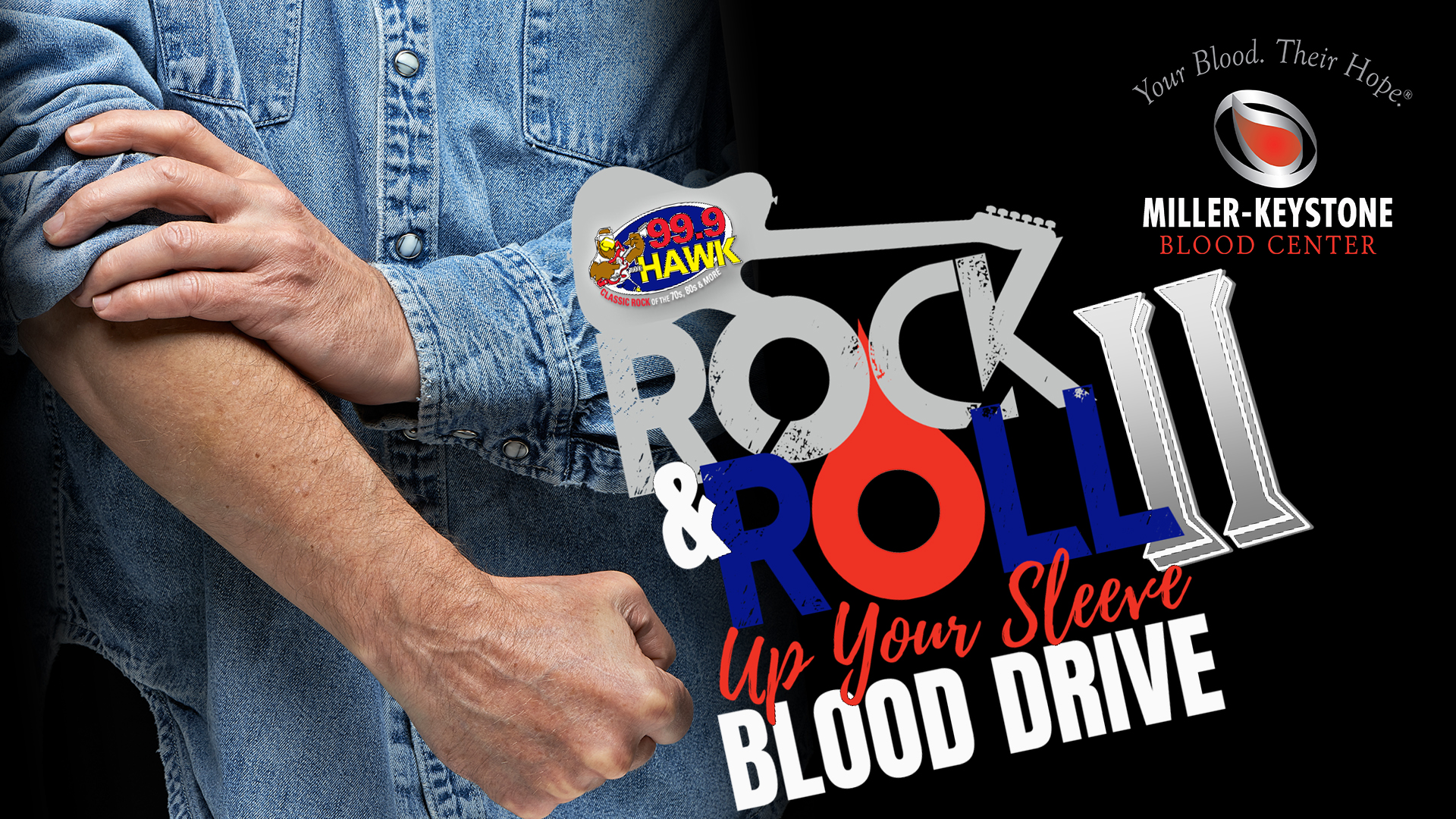 Second Rock & Roll Up Your Sleeve Blood Drive with 99.9 The Hawk