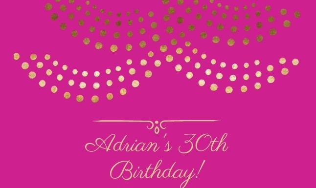 Celebrate Adrian's Birthday with MKBC!
